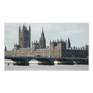 """Photoshop Speed Art - """"Thames Freezes Over"""" Poster"""