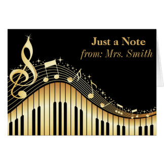 Piano and Music Personalized Greeting Cards