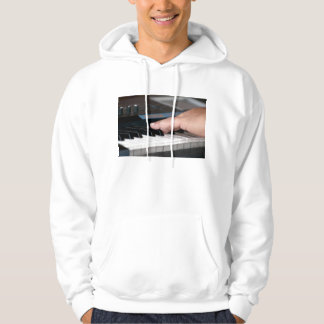 piano electric left hand playing keys music design hoody