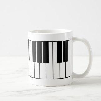 Piano Keys Basic White Mug