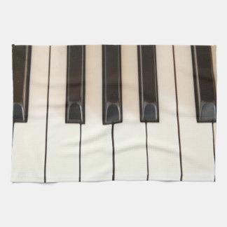 Piano Keys Hand Towels