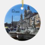Piazza Navona- Rome, Italy Round Ceramic Decoration