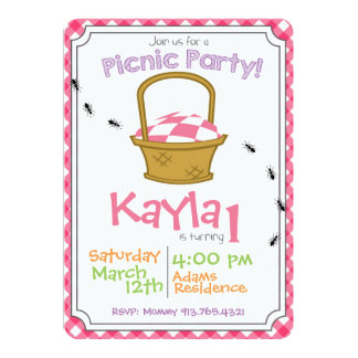 Picnic Party Birthday Invitation