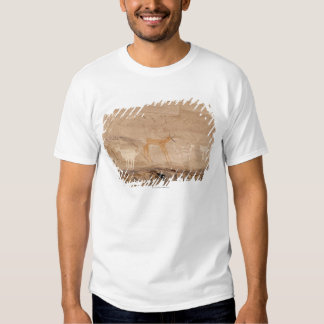 Pictographs of antelope, sheep and goats on tshirt