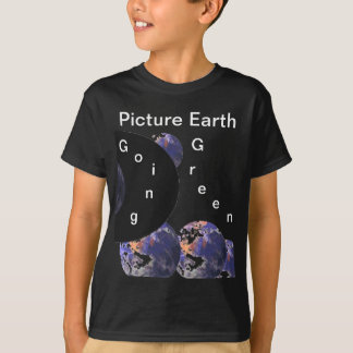 Picture Earth Going Green 4 Boys' Black Tshirt