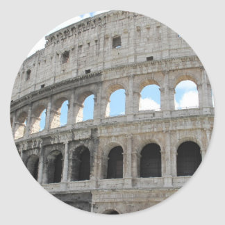Picture of the Roman Colosseum - Colosseo Round Sticker