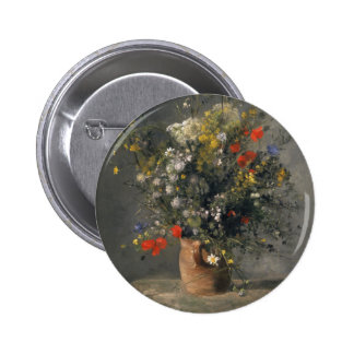 Pierre Auguste Renoir Painting, Flowers In A Vase 6 Cm Round Badge