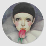 Pierrot 1980s round sticker