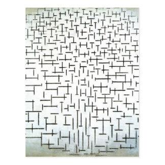 Piet Mondrian Modern Art Postcard