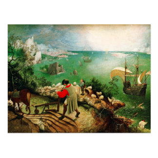 Pieter Bruegel Landscape with the Fall of Icarus Postcard