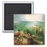 Pieter Bruegel Landscape with the Fall of Icarus Square Magnet