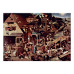 Pieter Bruegel the Elder - The Dutch proverbs Poster