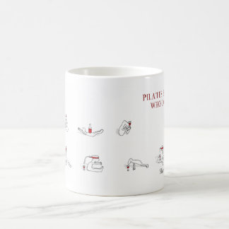 Pilates for people who love wine Harold's Planet Basic White Mug