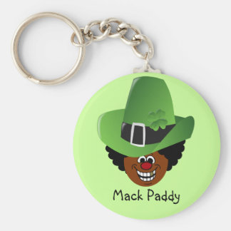 Pimped Out St. Patrick's Day Leprechaun Basic Round Button Key Ring