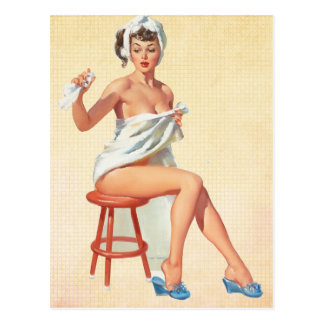 Pin up Girl Postcard