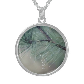 Pine Leaves Silver Sterling Necklace