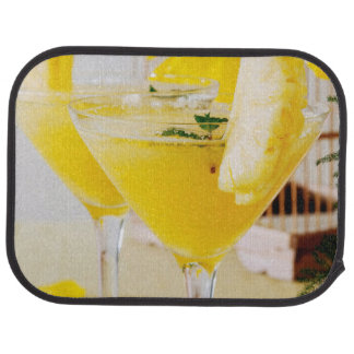 Pineapple and ginger Fresca cocktail Floor Mat