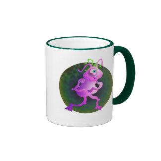 Pink Alien Ringer Mug