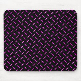 Pink and Black Diamond Plate Mouse Pad