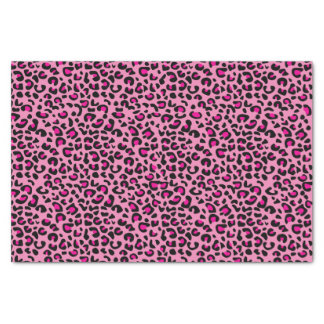 """Pink and Black Leopard Print 10"""" X 15"""" Tissue Paper"""