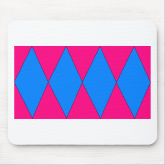 pink and blue diamond mouse pad