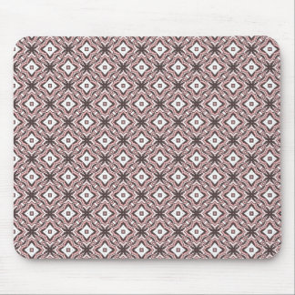 Pink and brown ornate diamonds mouse pad
