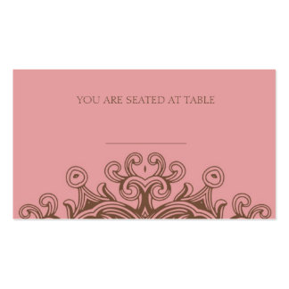Pink and Brown Wedding Placecards Pack Of Standard Business Cards