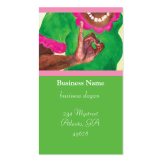 Pink and Green Sorority Cards Pack Of Standard Business Cards