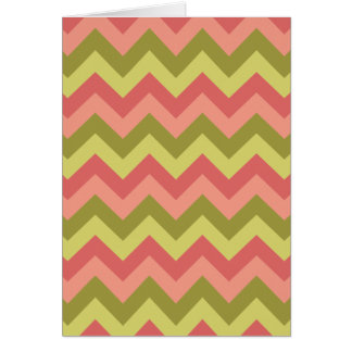 Pink and Green Zig Zag Greeting Card
