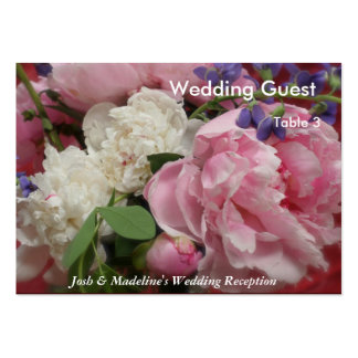 Pink and White Peonies Reception Table cards Pack Of Chubby Business Cards