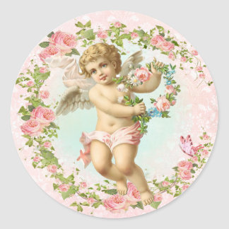 Pink Angel Sticker Rose Flame