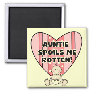 Pink Auntie Spoils Me Tshirts and Gifts Square Magnet