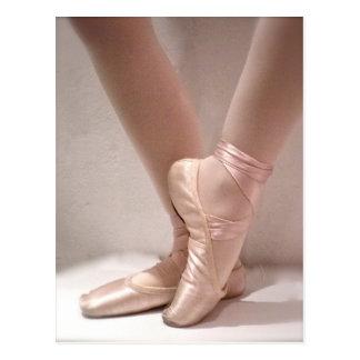 Pink Ballet Slippers Postcard
