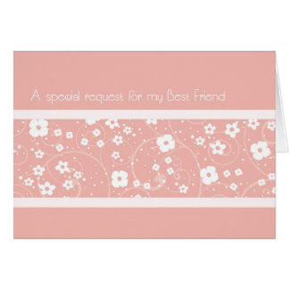 Pink Best Friend Maid of Honor Invitation Card