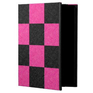 Pink Black Checkerboard iPad Air Cover