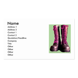 Pink Boots Pack Of Standard Business Cards