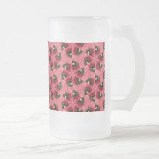 Pink Bug Frosted Glass Mug