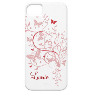 Pink Butterfly Personalized iPhone 5 Case