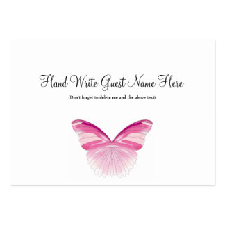 Pink Butterfly - Place Cards Pack Of Chubby Business Cards