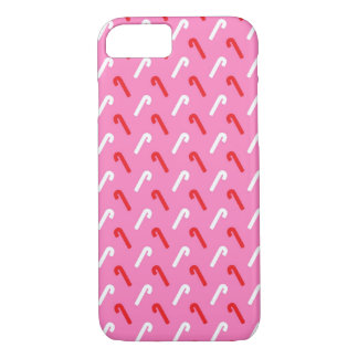 Pink Candy Cane Christmas Holiday iPhone 7 Case