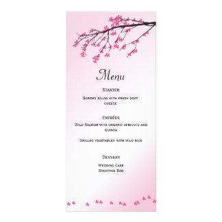 Pink Cherry Blossom   Menu Card Personalised Rack Card