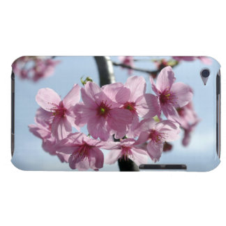 Pink cherry blossoms and light-blue sky iPod touch case