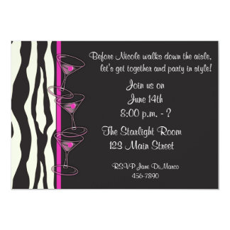 Pink Cocktails Party Invitation