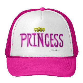 pink color hat with neon pink princess logo