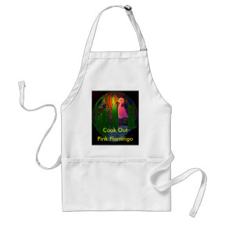 Pink Flamingo Cook Out Apron