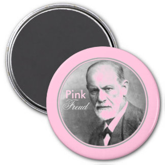 Pink Freud Psychology Humor Magnet