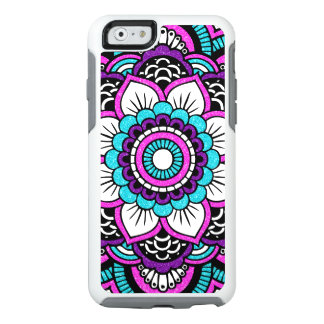 Pink Glitter Floral Mandala Otterbox iPhone 6 Case