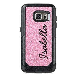 PINK GLITTER PRINTED PERSONALIZED OtterBox SAMSUNG GALAXY S7 CASE