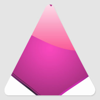 Pink Heart Triangle Sticker