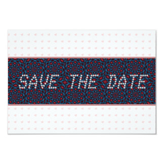 Pink Hearts telegram Save the Date 9 Cm X 13 Cm Invitation Card